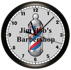 Barber Shop Custom WALL CLOCK by cabgodfrey on Etsy
