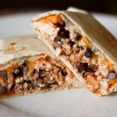 Southwest Chicken & Rice Burritos   foodraf