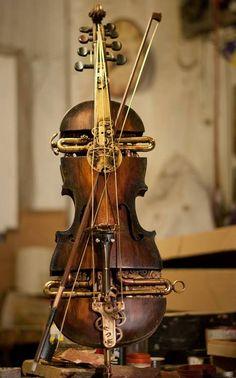 steampunktendencies:  Mechanical Violins