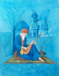 sufiness Artist's details were not provided Composition Painting, Islamic Paintings, Arabic Art, Historical Art, Painting Gallery, Fantasy Inspiration, Figure Painting, Islamic Art, Aesthetic Art