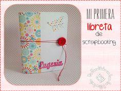 Libreta de scrapbooking hecha con cartón reciclado.  http://manualidadescongomaeva.blogspot.com.es/2014/01/mi-primera-libreta-de-scrapbooking.html