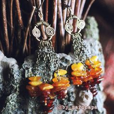"Handmade earrings ""Autumn is coming""."