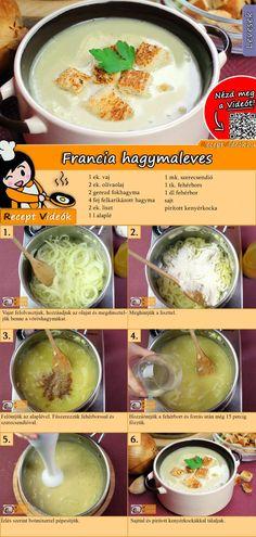 Francia hagymaleves recept elkészítése videóval