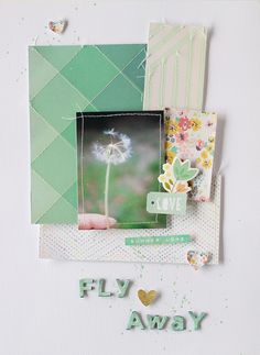 PHOTO + PAPER + STAMP = CRAFTTIME!!!: LAYOUT - FLY AWAY