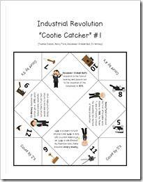 Worksheets Industrial Revolution Worksheet revolutions activities and student on pinterest industrial revolution cootie catcher focusing 8 inventors