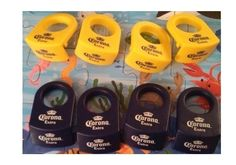 Coronita Bottle Holders (Corona Rita) 4 Yellow and 4 Blue * Click image to review more details.