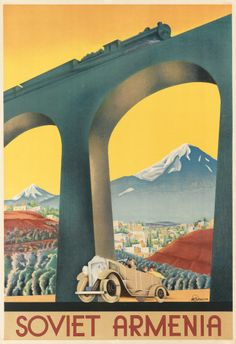vintage travel posters from the 1930s selling the Soviet Union as a holiday destination