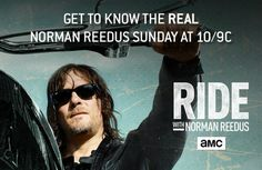 """AMC's """"Ride With Norman Reedus"""" premieres tomorrow, (June 12, 2016) and it looks like a good show. It will be interesting to see Norman in a way you've never seen him before—giving the fans an inside look at his life, passion, and a glimpse of his personality. AMC released a sneak peak of"""