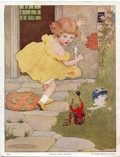 Vintage Nursery Rhyme Illustrations | Vintage 1915 Nursery Rhyme Illustration, Print for Framing, Little ...