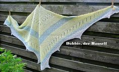 Inspired by the Harry Potter novels, Dobbie is a shawl in soft natural colors, fitting Dobbie's poor clothing. Natural Colors, Shawls, Knits, Novels, Harry Potter, Marvel, Blanket, Inspired, Knitting