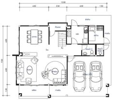 House design plan with 4 bedrooms. Style modernHouse description:Number of floors 2 storey housebedroom 3 roomstoilet 3 roomsmaid's room 1 4 Bedroom House Designs, 4 Bedroom House Plans, Duplex House Design, Modern House Design, Home Design 2017, Home Design Plans, Large Homes Exterior, Philippines House Design, Hotel Floor Plan