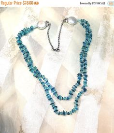 Hey, I found this really awesome Etsy listing at https://www.etsy.com/listing/193205539/20-sale-neon-apatite-double-necklace