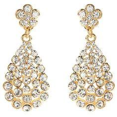 Amrita Singh Amrita Singh Amelie Crystal Chandelier Earrings... ($19) ❤ liked on Polyvore featuring jewelry, earrings, nocolor, round earrings, amrita singh earrings, amrita singh, bezel set earrings and chandelier earrings