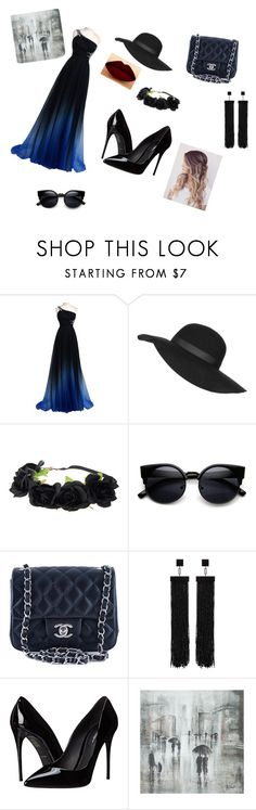 """Miss Mysterious"" by treelights29 ❤ liked on Polyvore featuring beauty, Topshop, Chanel, LASplash, Tom Ford, Dolce&Gabbana and Leftbank Art"
