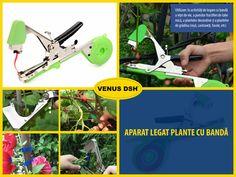 Utilizare: în activități de legare cu bandă a viței de vie, a pomilor fructiferi de talie mică, a plantelor decorative și a plantelor de grădina (roșii, castraveți, fasole, etc...) Caracteristici: ✪ diametrul maxim de legare (deschiderea fălcilor): 50 mm; ✪ lamă zimțată pentru tăierea benzii Consumabile utilizate: ✪ bandă PE, PP sau PVC cu lățime 11.5 mm, grosime 0.12 mm, lungime maximă astfel încât rola să nu depășească diametrul de 45 mm; ✪ capse de dimensiuni 6 x 4 x 0.55 mm, maxim 200…