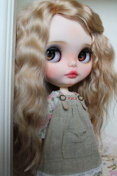 Olivia - Custom Blythe Doll, OOAK Art Doll