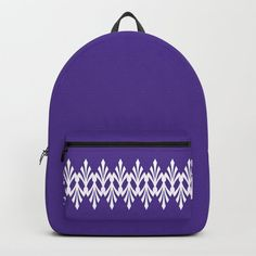 Art Deco Plumes on Purple Backpack by denidesigns Backpacks For Sale, D Craft, One Size Fits All, Fashion Backpack, Art Deco, Laptop, Handle, Construction, Unisex