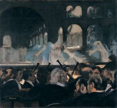 Edgar Degas Ballet Scene from 'Robert le Diable' 1876 Oil on canvas