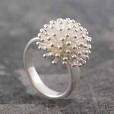 dandelion sterling silver ring by otis jaxon silver and gold jewellery | notonthehighstreet.com