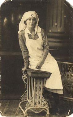 Jewish nurse stands for a portrait, ca. 1910. Pictures of Nursing: The Zwerdling Postcard Collection. National Library of Medicine