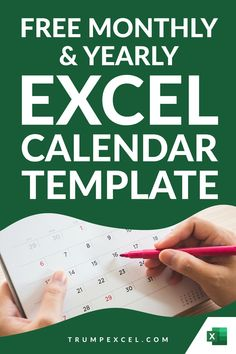 Here is a simple dynamic Excel monthly and yearly calendar that you can download and use. It's dynamic Excel calendar so you can change the year and the month and it would automatically update to give you the calendar for that specific month/year. I want to make sure that it can easily be printed in a single page so that you can use it as a printable Excel For Beginners, Excel Calendar Template, Excel Hacks, Pivot Table, Computer Basics, Yearly Calendar, Microsoft Excel, Day Work, Ms