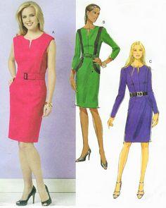 Womens Princess Seam Dress OOP Butterick Sewing by CloesCloset