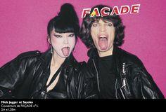 Sayoko Yamaguchi and Mick Jagger