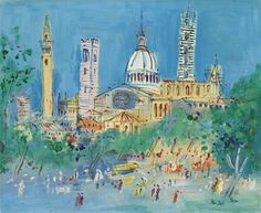 Jean Dufy  1888 - 1964  SIENNE