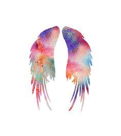 Watercolor Art Print  Angel Wings Art Print  by Thenobleowl, $15.00