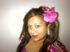Adding a flower to your hair from Michael's makes any outfit suddenly tropical themed !
