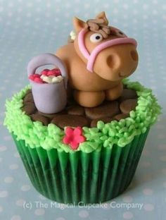 Cute horse cupcake