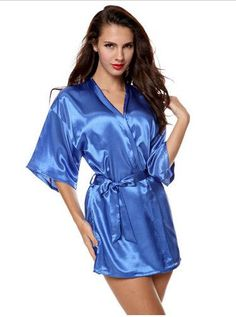 ace3bcda6b Sexy Large Size Sexy Satin Night Robe Lace Bathrobe Perfect Wedding Bride  Bridesmaid Robes Dressing Gown For Women