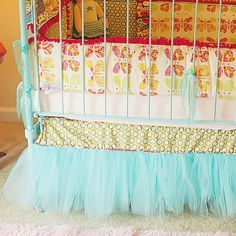 tulle crib skirt - how have I never thought of this before -- so very sweet.