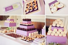 A few shots of the dessert table I designed for my clients' wedding. custom cookies, whoopie pies, cupcakes, and macarons