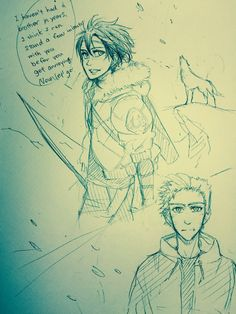 Chapter35 of the lost hero I think? First drawing of Thalia. I like this chapter!  By IW and FD on tumblr