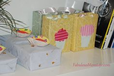 Cupcake themed paper bags