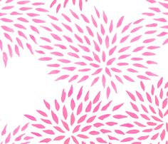 Summer Mums in pink fabric by domesticate on Spoonflower - custom fabric