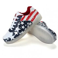 Low Top USA Flag LED Light Up Shoes For Women Korean Shoes 90f809d3f0