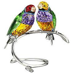 Swarovski Gouldian Finches - beautiful