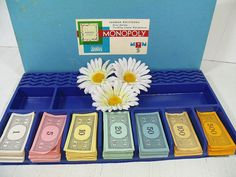Vintage Parker Brothers Monopoly Games Set of Paper Money - Collection of 3 Groups of Paper Money Bills Game Equipment Pieces to Repurpose $7.00 by DivineOrders