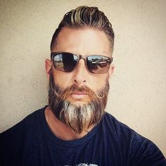 Cool colour beard and shades.