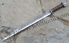LONG ANGLO-SAXON SCRAMASAX, forged battle ready replica