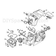 Stihl MS 180 Chainsaw (MS180C-B D) Parts Diagram, Muffler