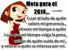 Amen, asi es, esas son mis metas tambien le pido a DIOS que me conceda todos mis deseos,ahnelos y suenos en el 2014.