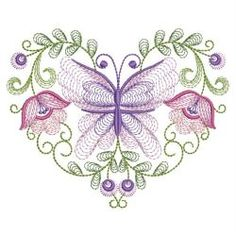 Rippled Butterflies 4 11(Sm) machine embroidery designs