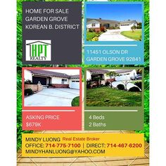 sale Home for sale in Korean Business District of Garden Grove, asking price $679K. #...