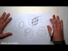 ▶ Sketching tutorial How to draw Ellipses and Cylinders - YouTube