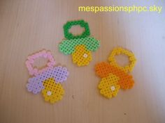 Pacifiers hama perler by mespassionsphpc.
