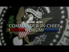 FULL P1/2 NBC Commander-In-Chief Forum: Hillary Clinton ...