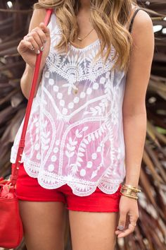 So happy we're heading back into white lace top weather.